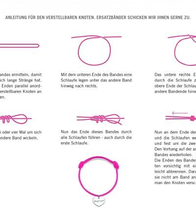 Anleitung verstellbarer Knoten