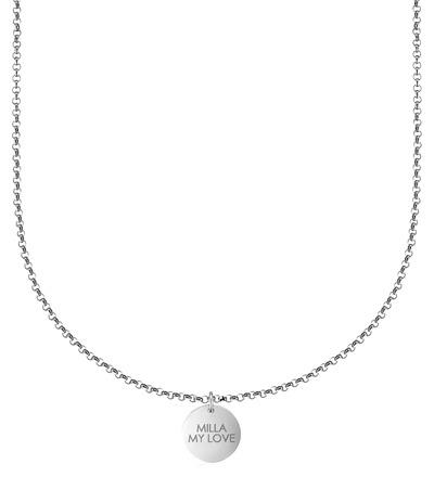 Blättchenkette - Silber kurz