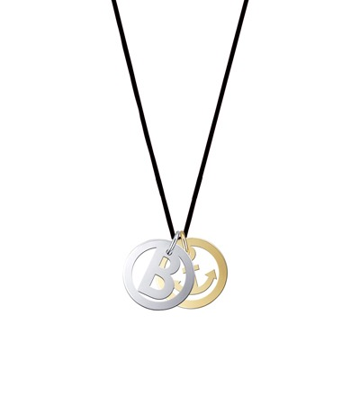 Symbol Initials - Kette Nylonband schwarz