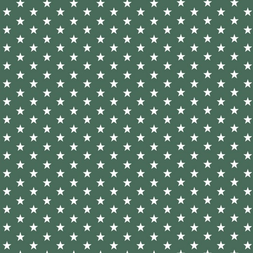 05m BW moosgrün Sterne Petit Stars