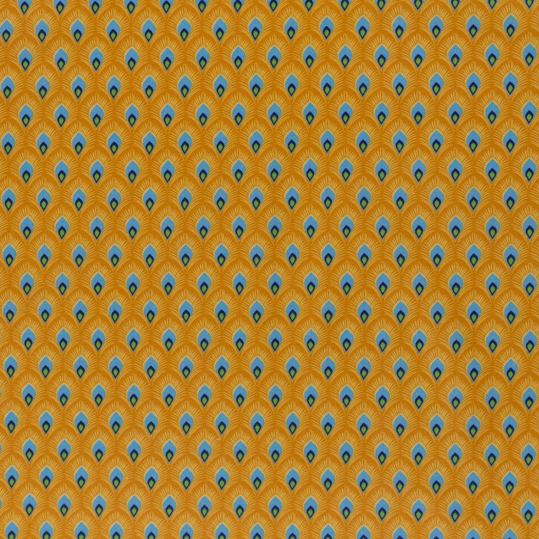 05m Beschichtete Baumwolle Leona Muster Pfau