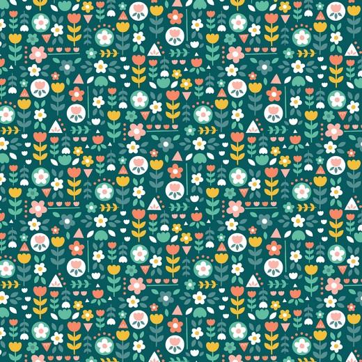 05m BW Happy Feeling Blumenparty grün