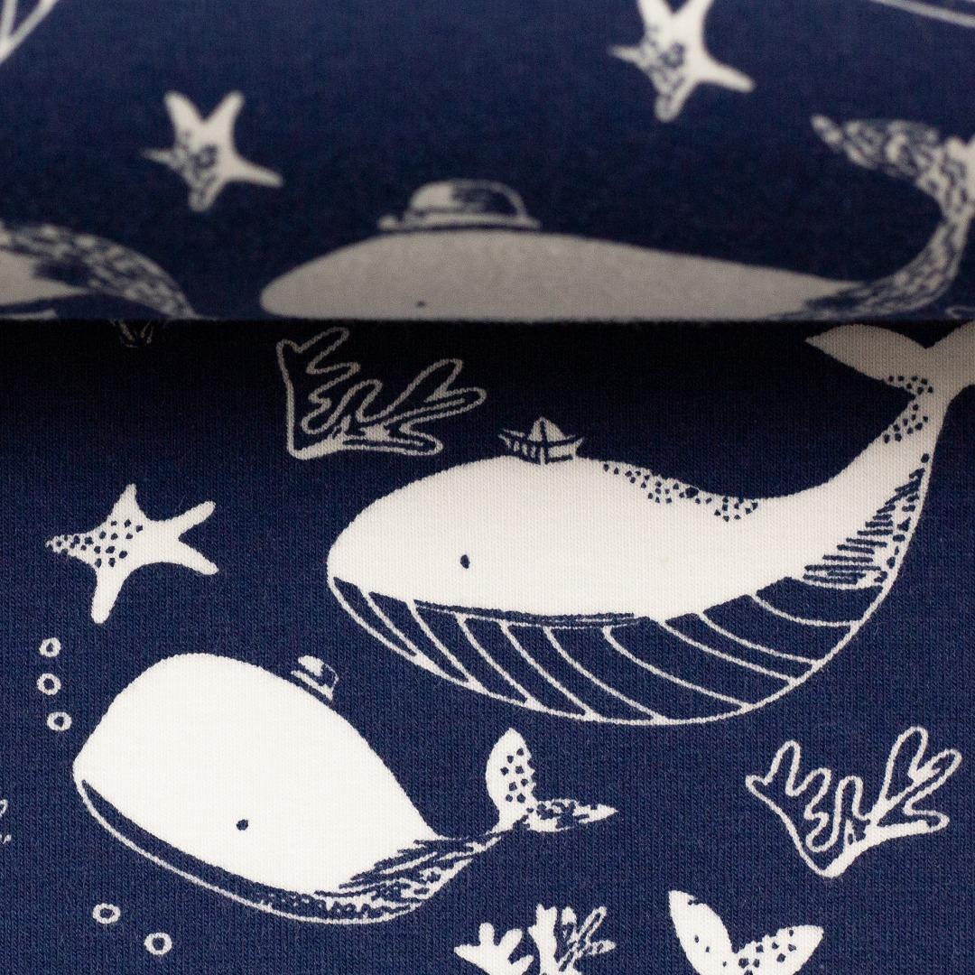 05m Jersey Vera Wale dunkelblau weiß