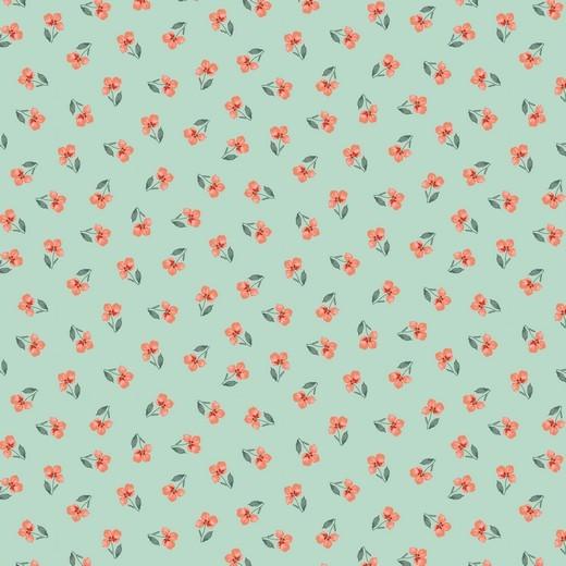05m BW GOTS Flower Blümchen mit