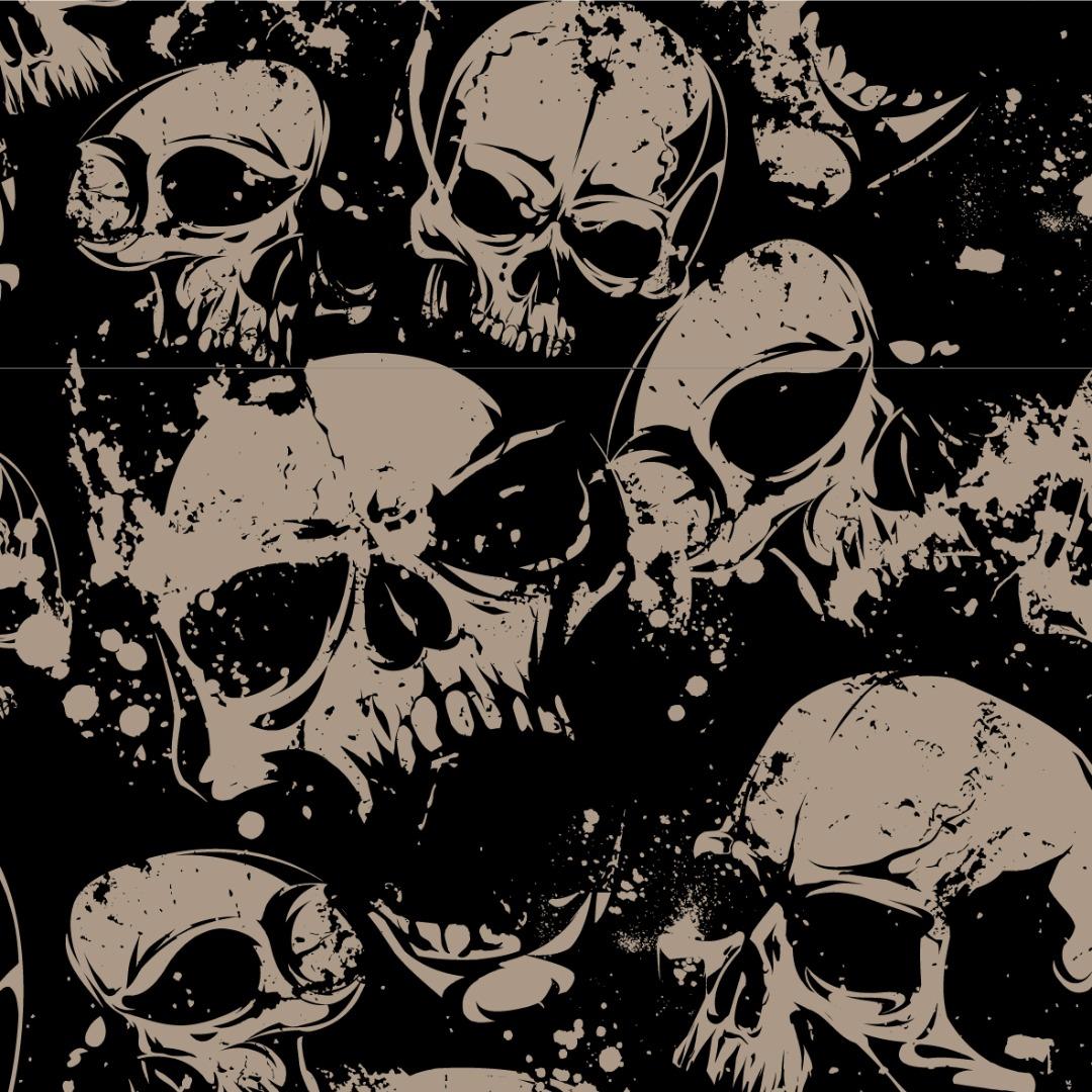 05m BW Kim Totenköpfe Skulls schwarz