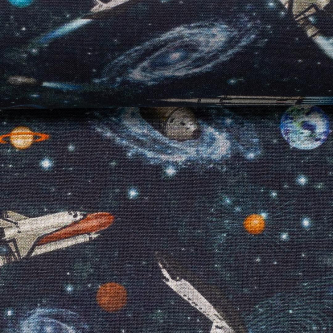 05m BW Kim Raketen Weltall dunkelblau