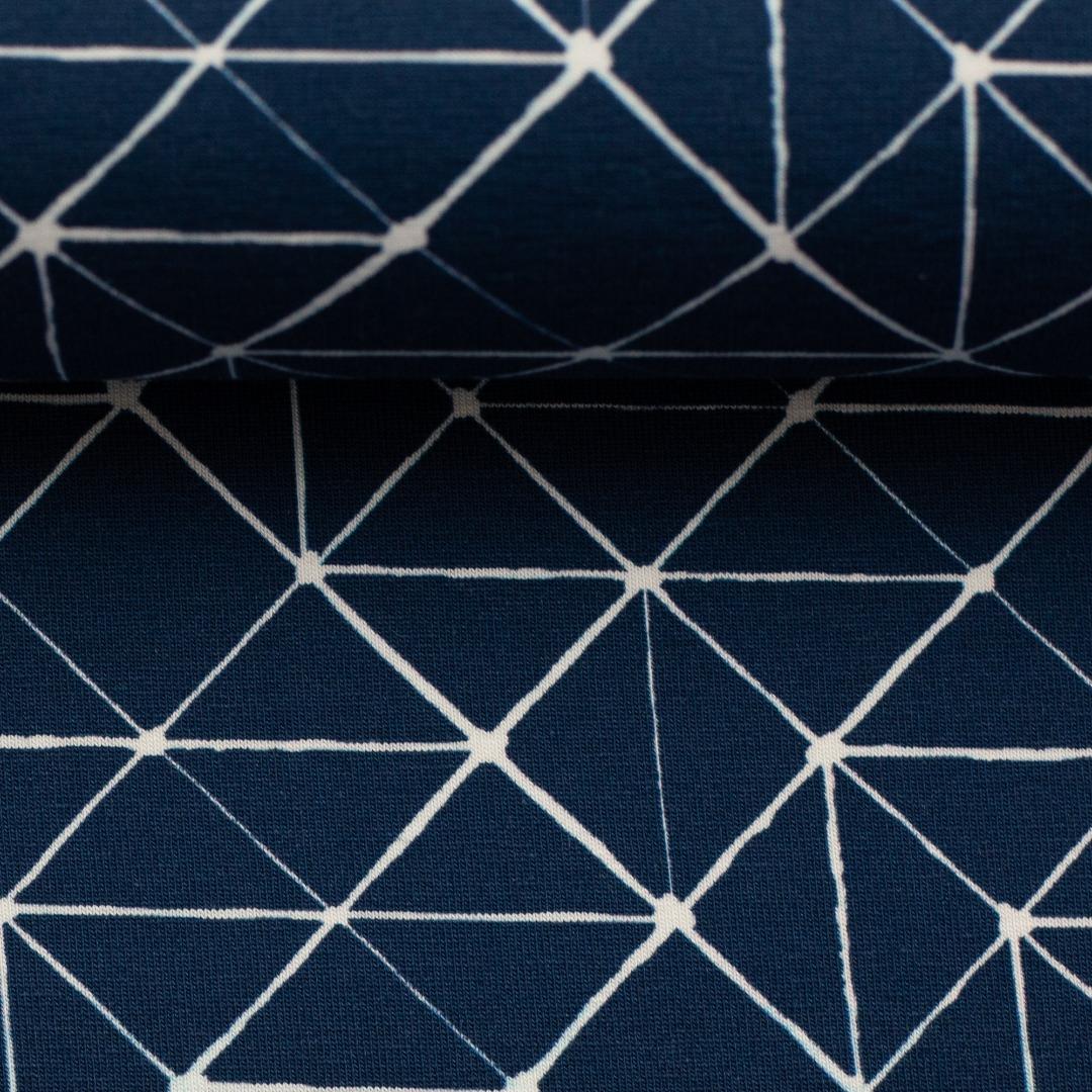 05m Jersey THEO Linien geometisch navy
