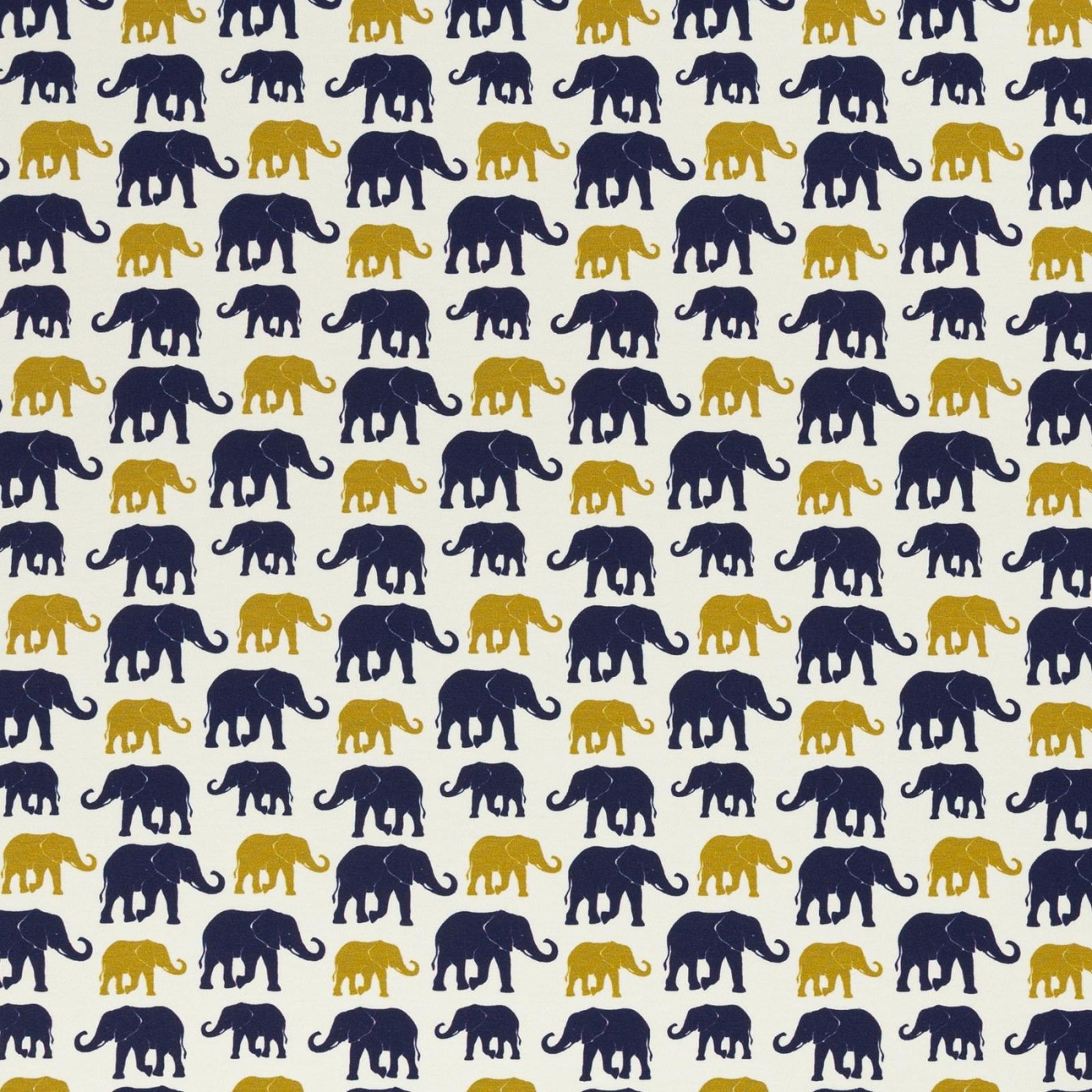 05m Jersey THEO Elefanten ecru ocker