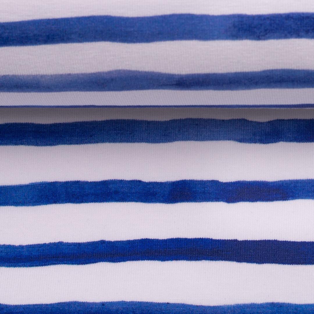 05m Jersey Ocean Breeze Streifen kobaltblau