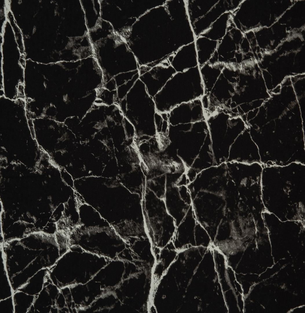 05m Jersey Marmor schwarz weiß