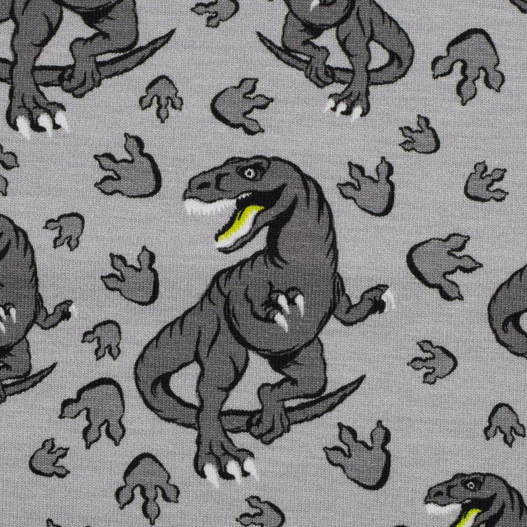 05m Jersey Steinbeck Dinos klein hellgrau