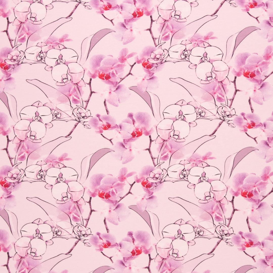 05m Jersey JONNE Orchideen weiß flieder
