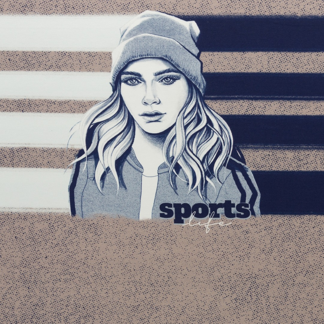 1Panel Sweat French Terry Sporty Girl