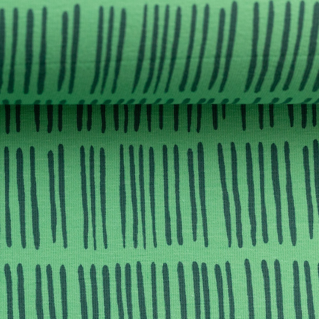 05m Jersey Veronika Striche Stripe grün