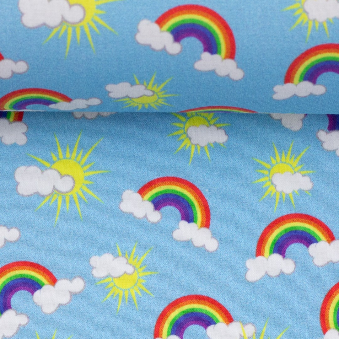 05m BW Toni Regenbogen Rainbow türkis