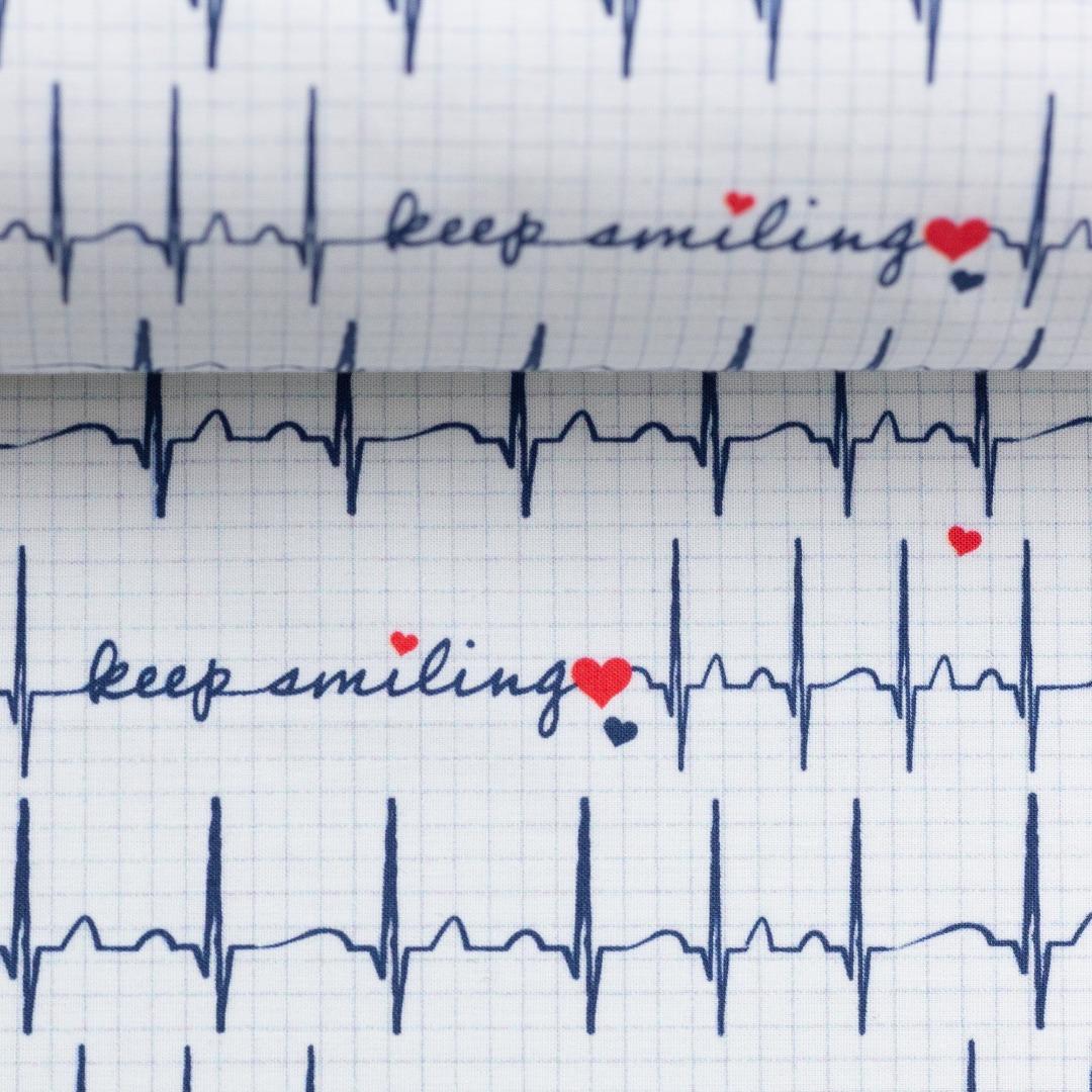 05m Jersey Keep Smiling EKG Herzlinie
