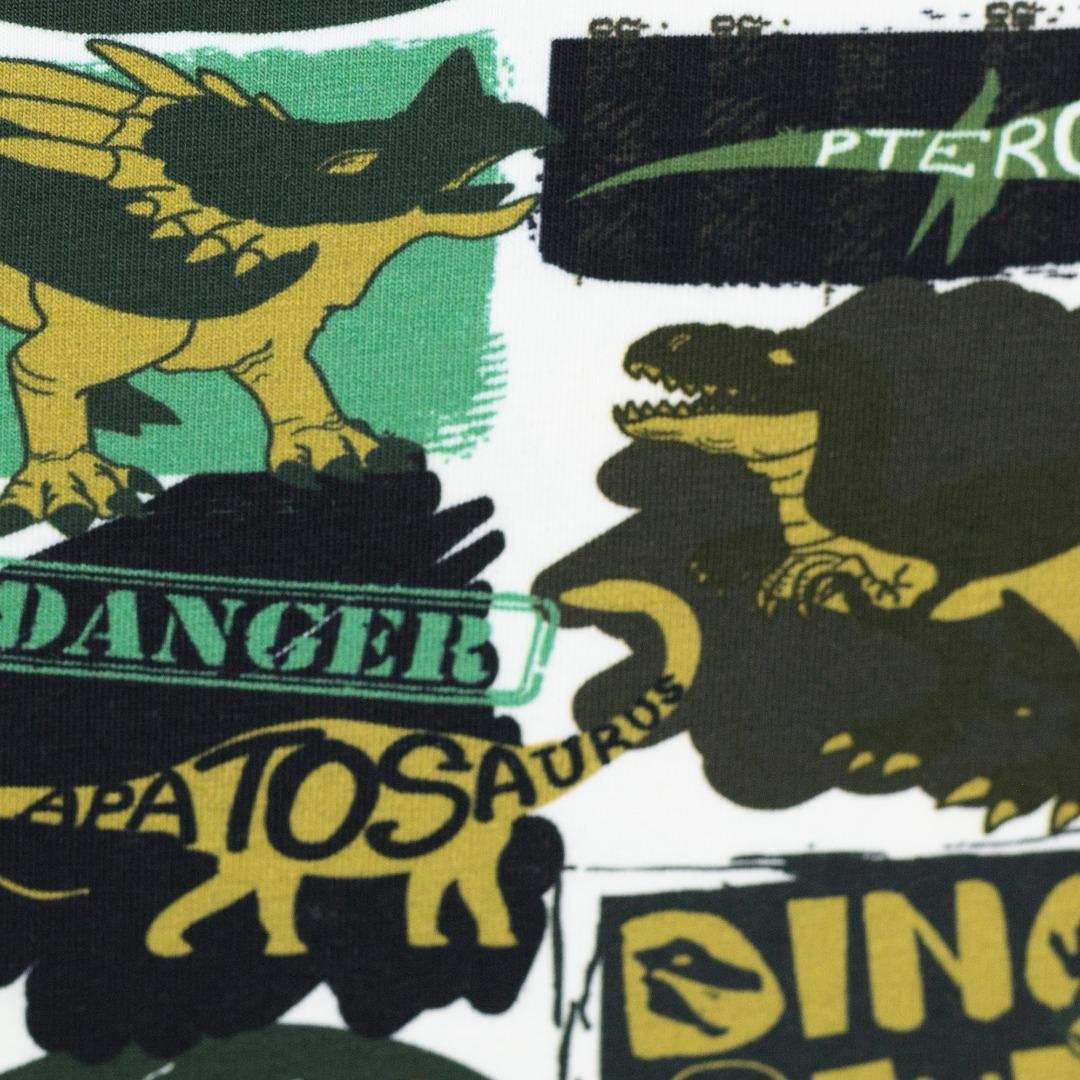 05m Jersey Dino Dinosaurier khaki grün