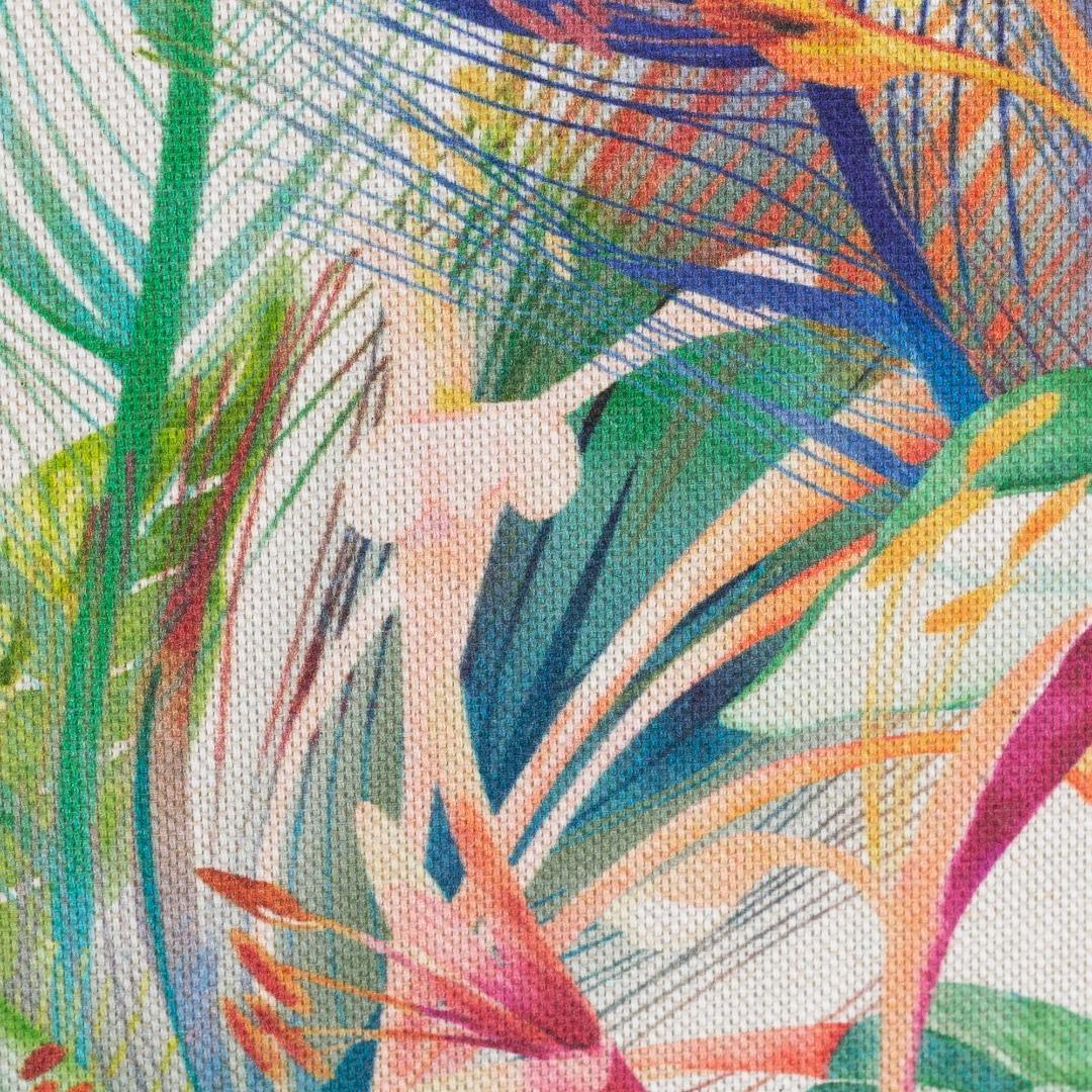 05m Canvas Ulrich Leinenoptik Blüten und