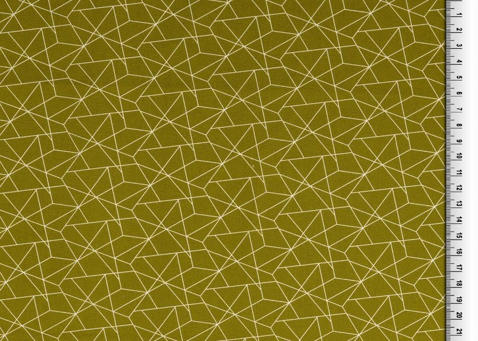 05m BW grafisches Muster Linien oliv