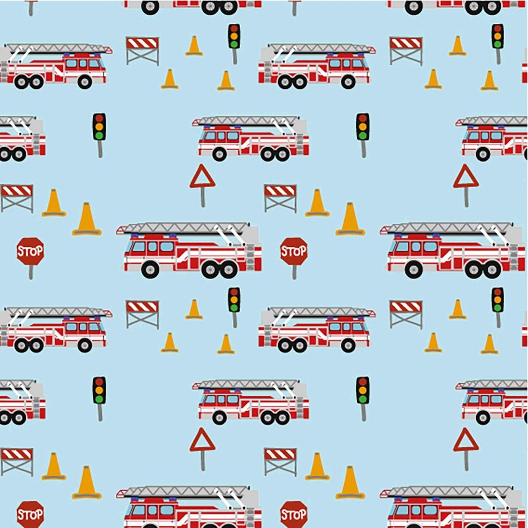 05m Jersey Feuerwehrautos hellblau bunt