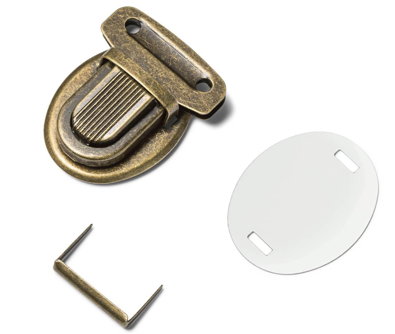 1Stk Steckschloß 26 mm Prym altmessing