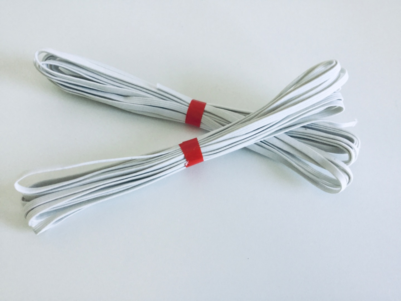 5m Flachgummi weiß 5mm breit
