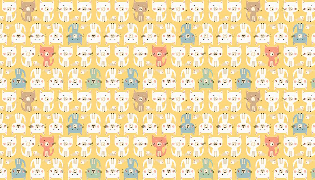 05m BW Cool Cats Katzen gelb