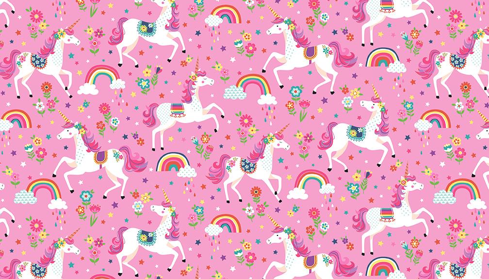 05m BW Daydream Einhorn Unicorns pink
