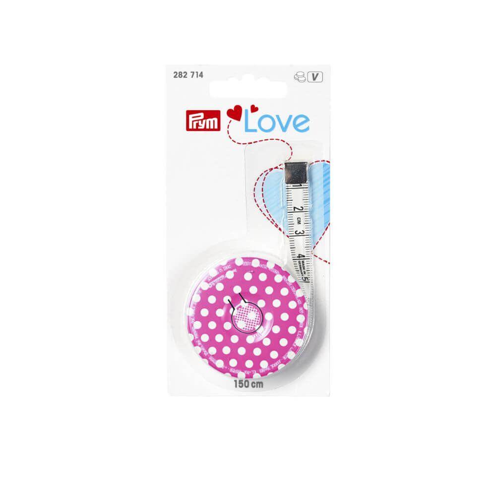 1Stk Rollmaßband cm Prym Love pink