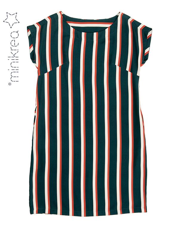 Schnittmuster Minikrea Bequemes Midikleid Loose-fitting Midi-Dress