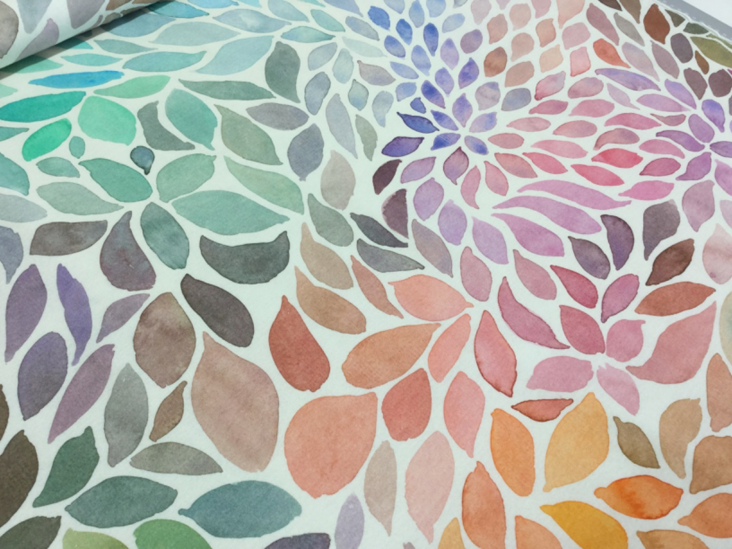 05m Jersey Colorleaves by Astrokatze Aquarell