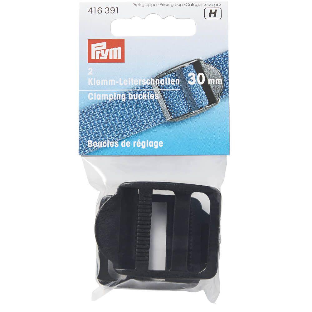 Stück Prym Klemmleiterschnallen 30mm Kunststoff schwarz