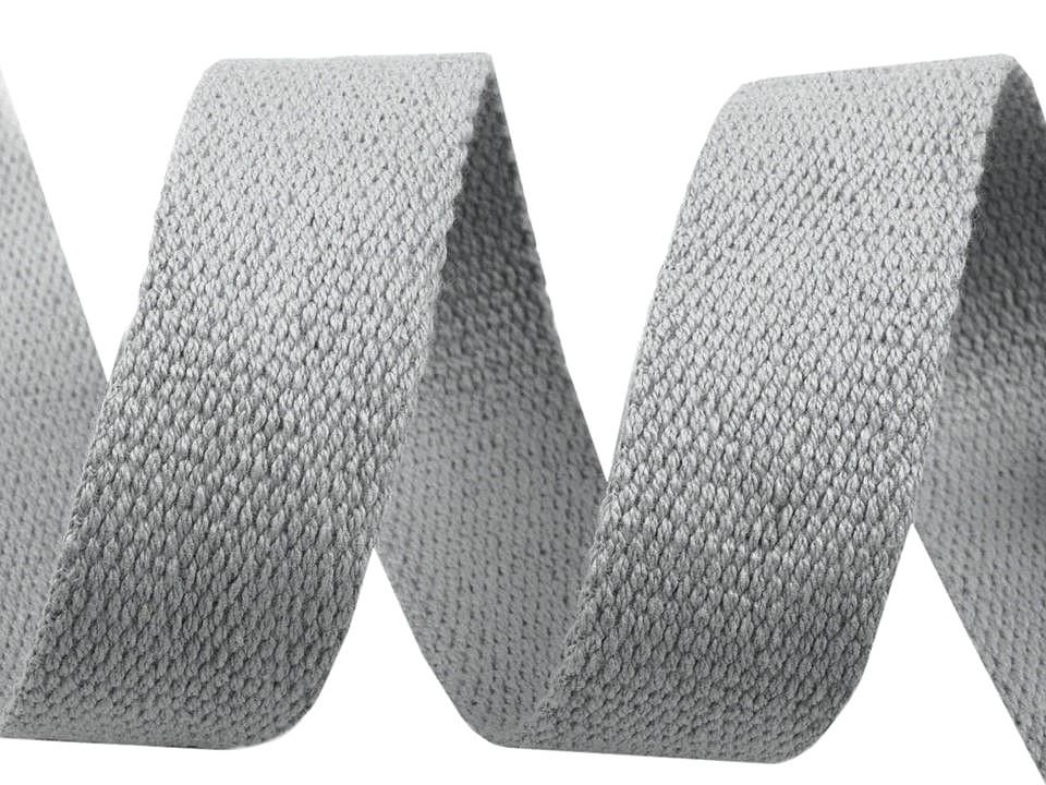 1m Gurtband Baumwolle 3cm breit hellgrau