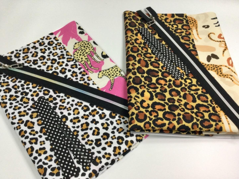 Materialpaket für Kosmetiktaschen Wash Bag Leoprint