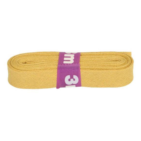 3m Baumwollschrägband uni 2cm breit ocker