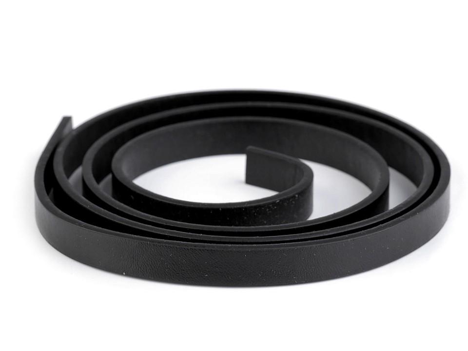 1m Kunstleder Henkel schwarz 10mm breit