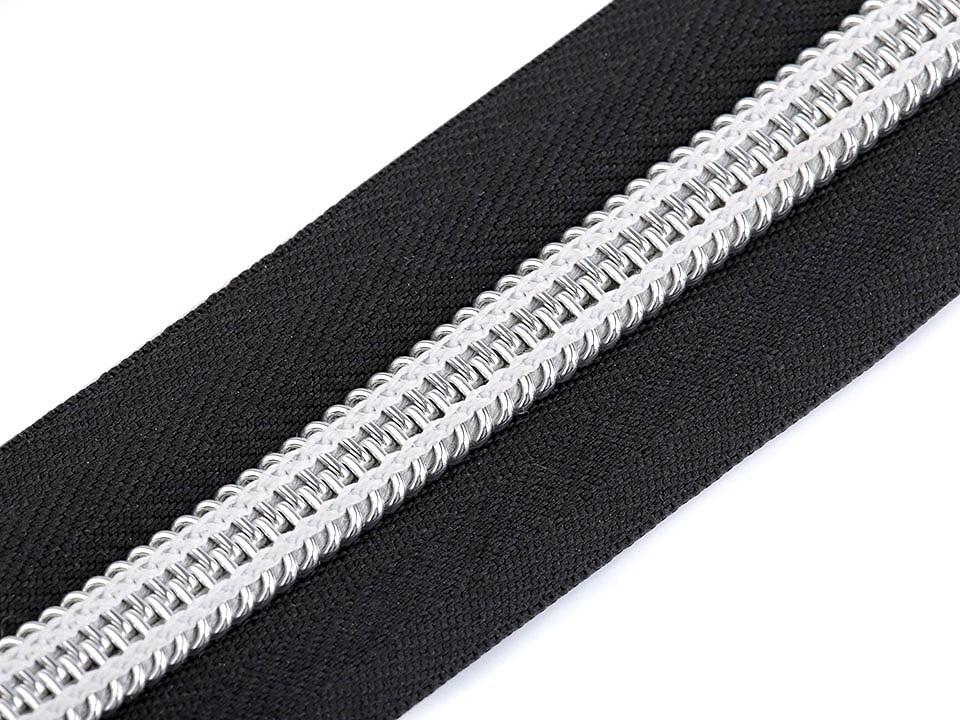 1m Metallic Reißverschluss XXL Spirale Breite