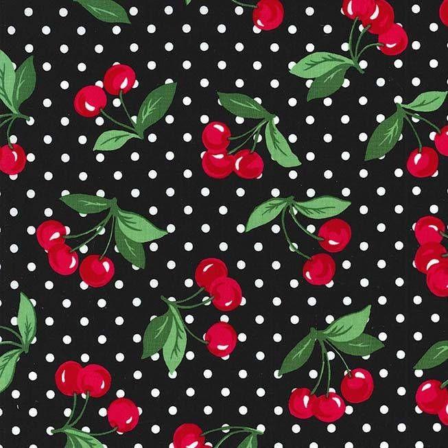 05m BW Cherry Dots Kirschen Punkte