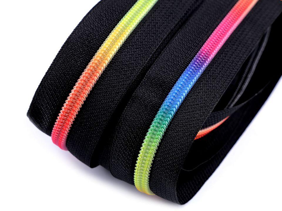 15m Regenbogen Reißverschluss Spirale Breite mm