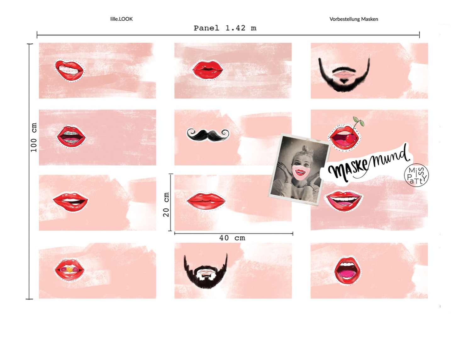 Panel Masken Mund by Miss Patty