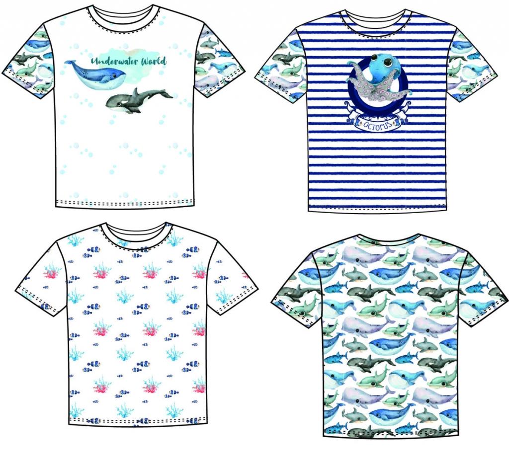 1Panel Jersey Underwater World Wal Oktopuss