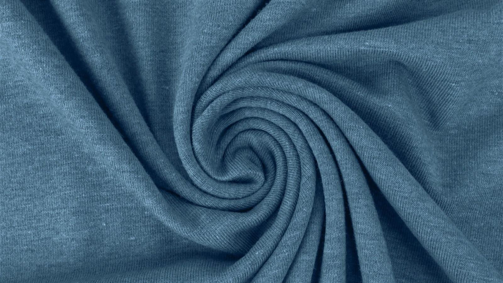 05m Jersey uni meliert blau