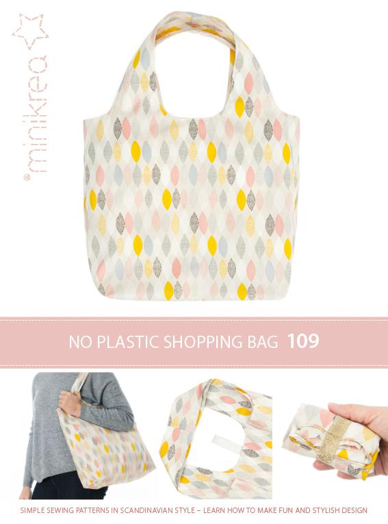 1 Schnittmuster Minikrea Tasche Einkaufstasche Shoppingbag