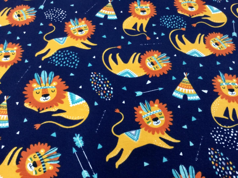 05m Jersey Löwe dunkelblau gelb