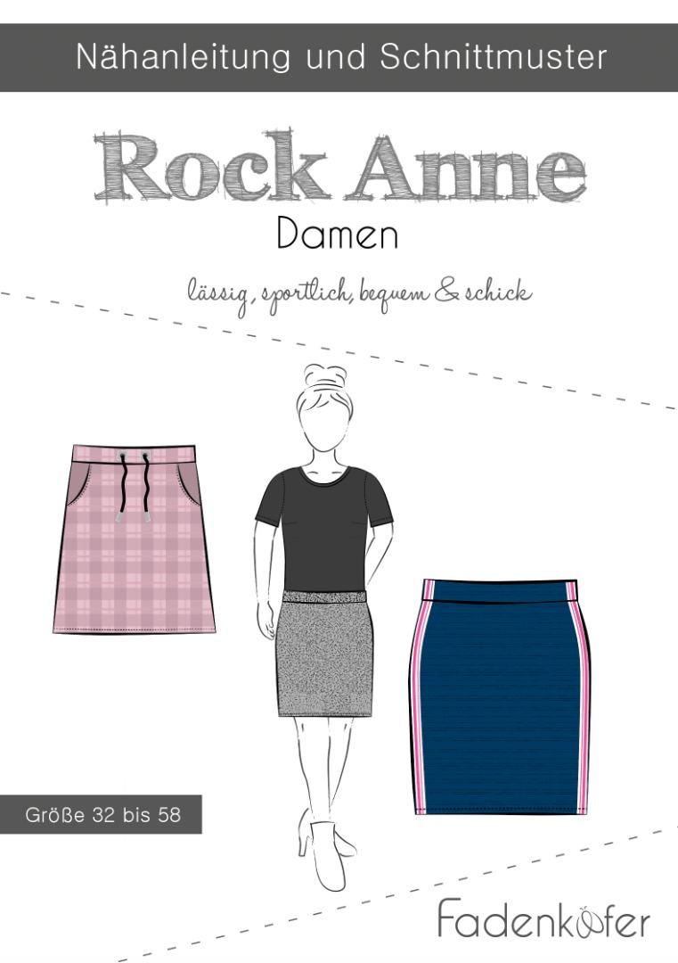 Papierschnittmuster Rock Anne Damen by Fadenkäfer