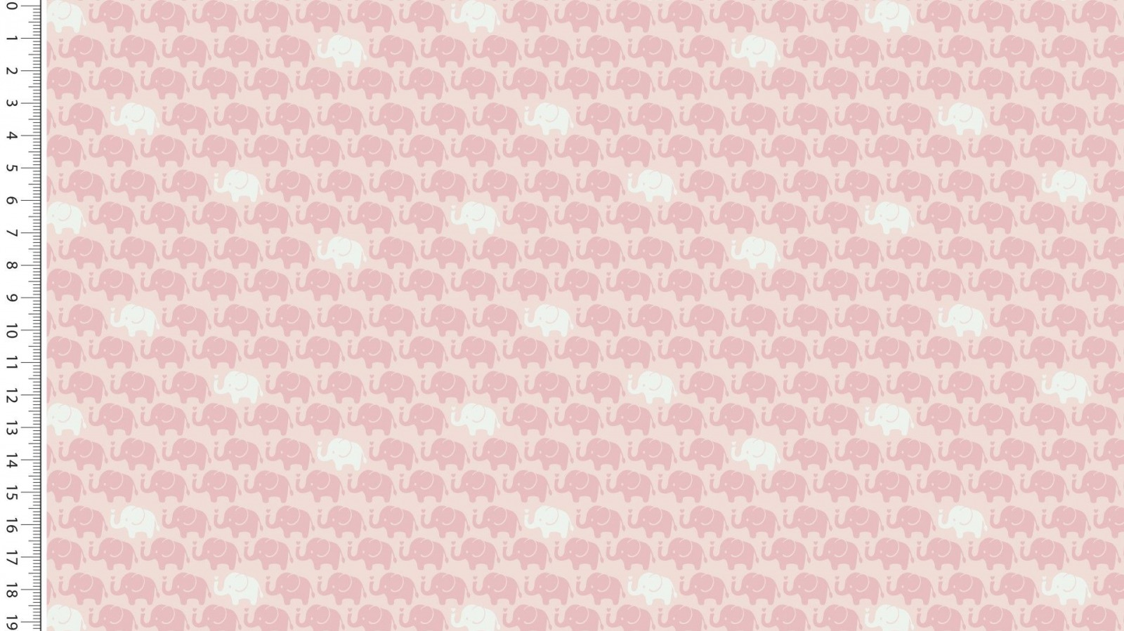 05m Baumwolle Mini Elefanten rose Dusty