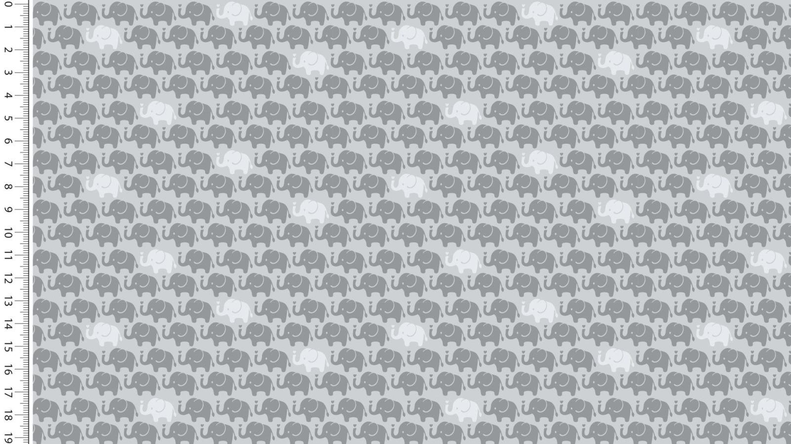 05m Baumwolle Mini Elefanten grau
