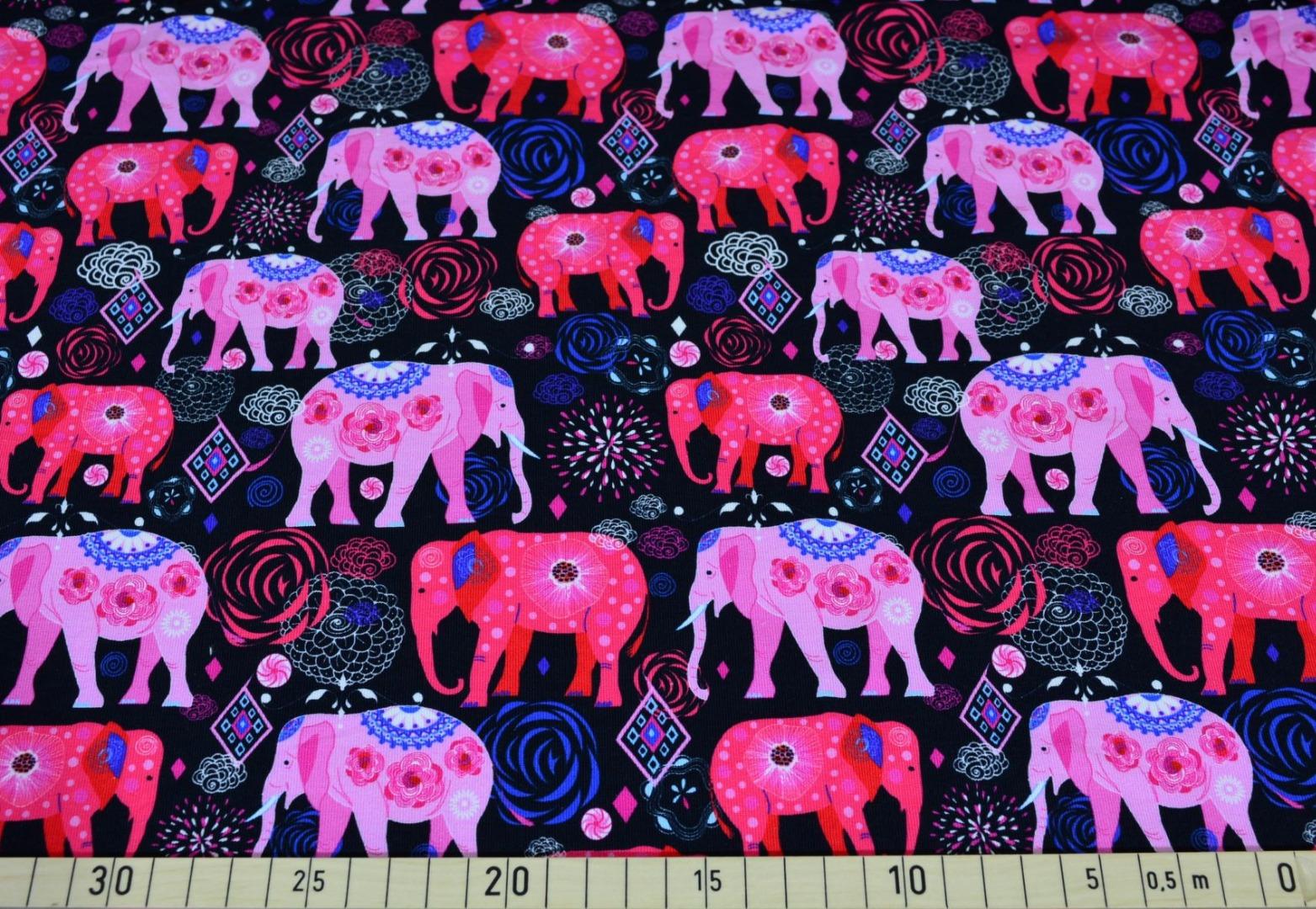 05m Sweat angerauht Elefanten India schwarz