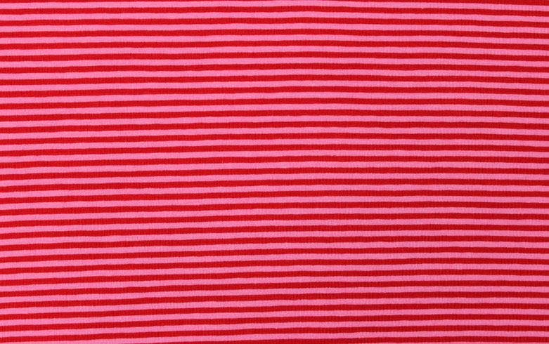 05m Jersey Ringel Streifen rot pink
