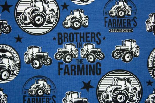 05m Jersey Traktoren Farmers mittelblau schwarz